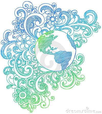 Free Planet Earth Sketchy Notebook Doodles Stock Photos - 11736613