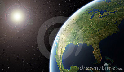 Planet Earth - United States of America from Space