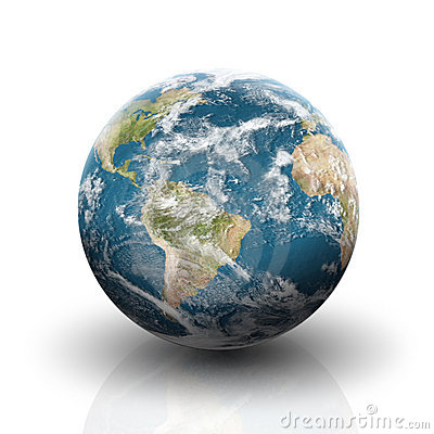Planet Earth On A Whit...A Circle Of Hands Clipart