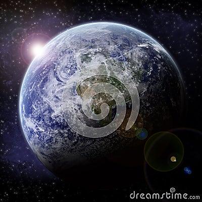 Planet explosion - Universe exploration