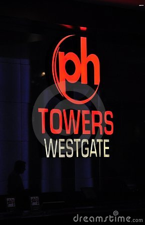 Planet Hollywood Towers Sign - Las Vegas, USA Editorial Photography
