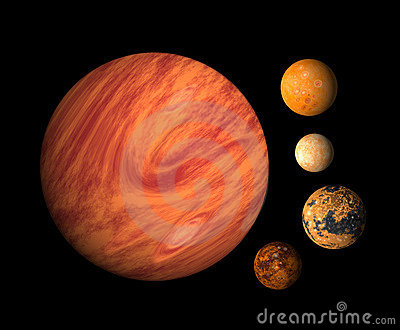 planet with four moons - photo #28