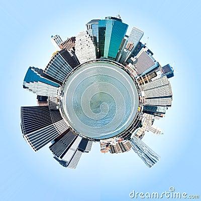 Free Planet Manhattan, New York City. USA. Royalty Free Stock Photos - 27420138