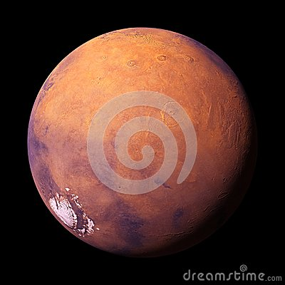 Free Planet Mars, Isolated On Black Background, Elements Of This Image Are Furnished By NASA Stock Photo - 114402220