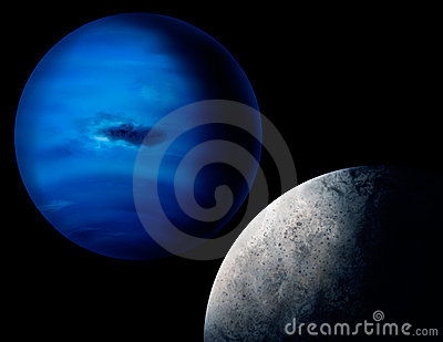 Planet Neptune Digital Art Illustration