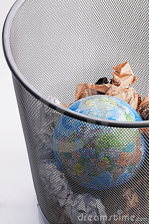 Planet In a Paper Dustbin