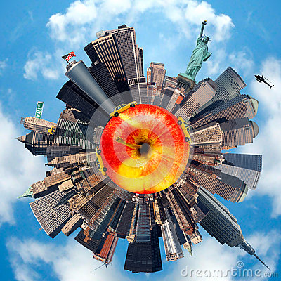 Free Planet Representing New-York City, USA Stock Images - 26800434