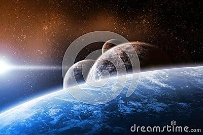 Planet space illustration