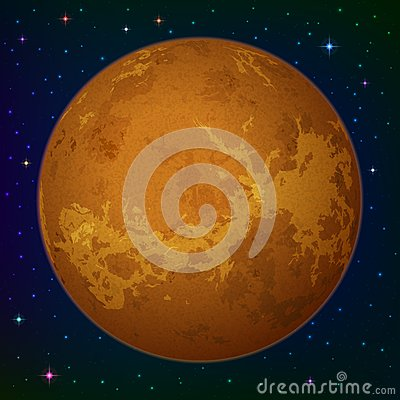 Planet Venus in space