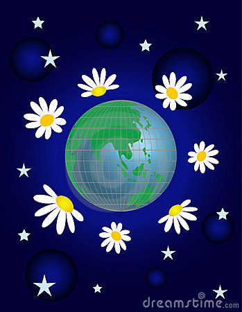 Free Planet With  Flower Stock Images - 8754944
