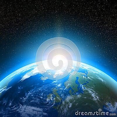 foto de la tierra del espacio: