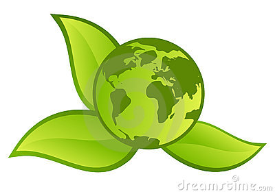 Planeta verde - muestra/botón