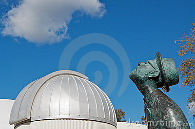 Planetarium and star gazer Editorial Photography