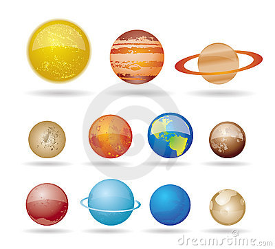Free Planets And Sun From Our Solar System Royalty Free Stock Photos - 15068438