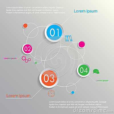 Planets infographic four options