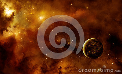 Planets with nebula