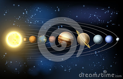 Planets Of The Solar System Stock Vector Image 45874976