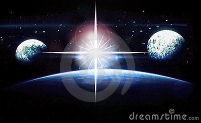 Planets and Stars Outer Space