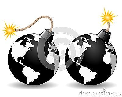 Planety ziemi bomby ikona