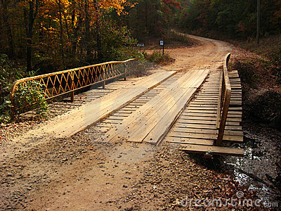 Plank Bridge on Dirt Road