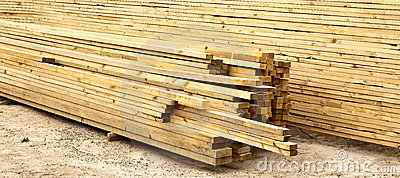 Planks of timber
