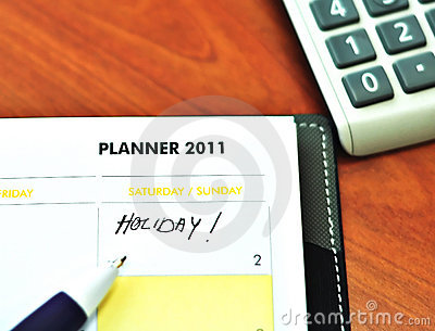 Planner Book with pen and calculator