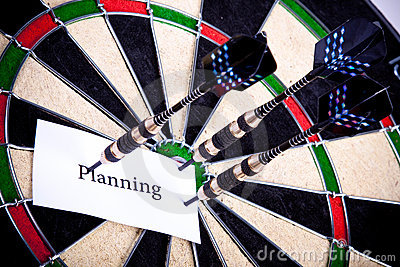 Planning on dartboard