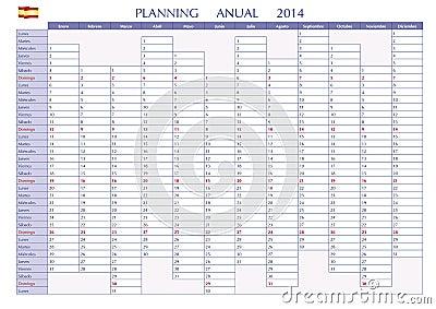 Planning 2014 spanish