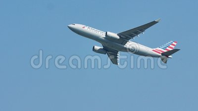 Plano de American Airlines que voa para vacation destinos filme