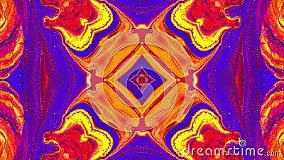 Plano de fundo decorativo e em movimento simétrico Gravação em loop ilustração royalty free