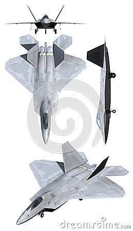 Plano de la fuerza aérea del rapaz F22