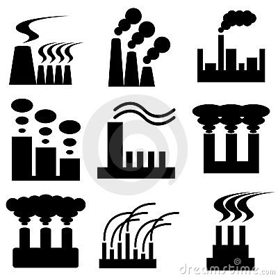 Plant and factory icons