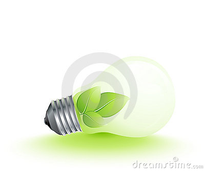 Plant growing in lightbulb