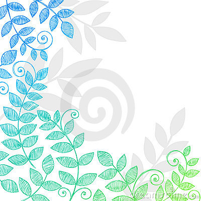 Free Plant Leaves Foliage Sketchy Notebook Doodles Stock Photography - 11700352