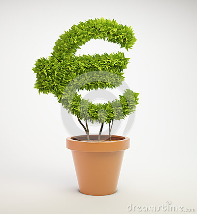 Plant shaped like a Euro currency symbol