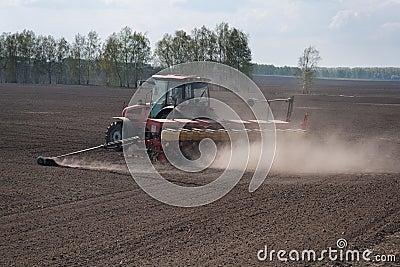 Planting of corn