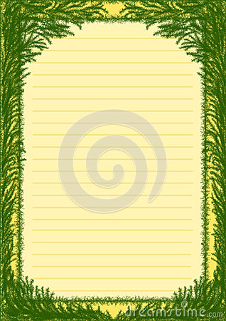Plants, frame background