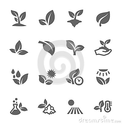 Free Plants Icons Stock Photography - 41768512