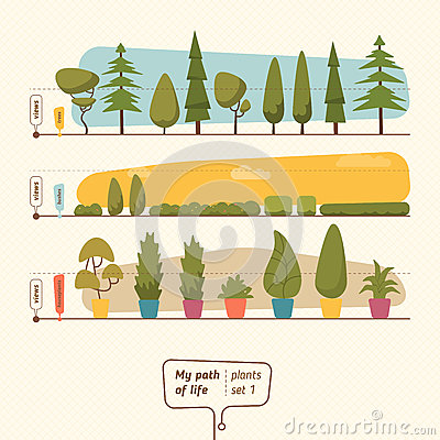 Free Plants Vector Collection Stock Photography - 66744672