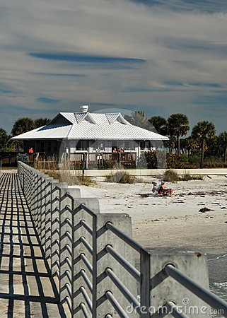 Plażowy desoto Florida fortu molo Obraz Editorial