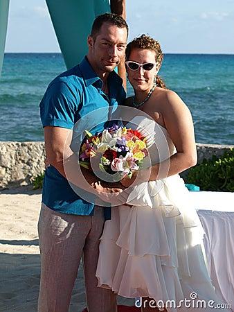 Plażowy egzotyczny weddingon