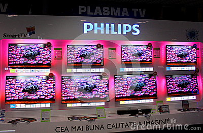 Plasma de Philips Fotografia Editorial