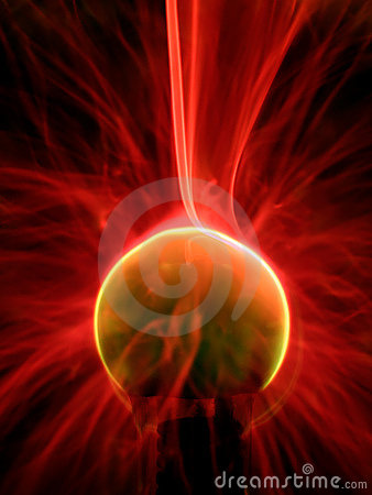 Free Plasma Lamp Close Up Stock Photography - 542702