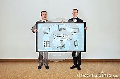 Plasma panel with computer network