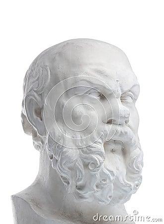 Plaster bust of sokrat