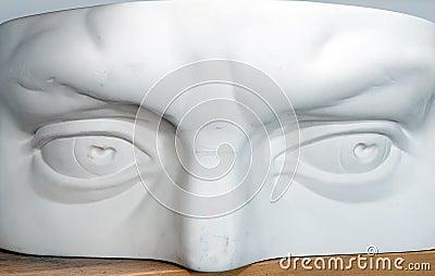 Plaster head part model