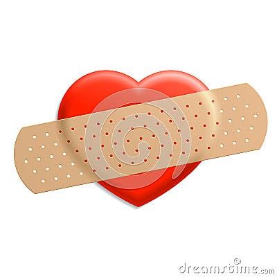 Plaster on heart
