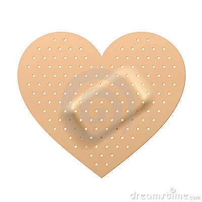 Free Plaster In Shape Of Heart Royalty Free Stock Image - 12619646