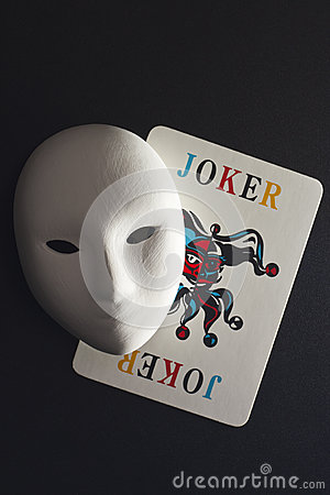 Plaster mask and joker