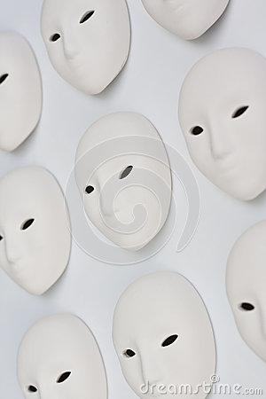 Plaster mask in studio